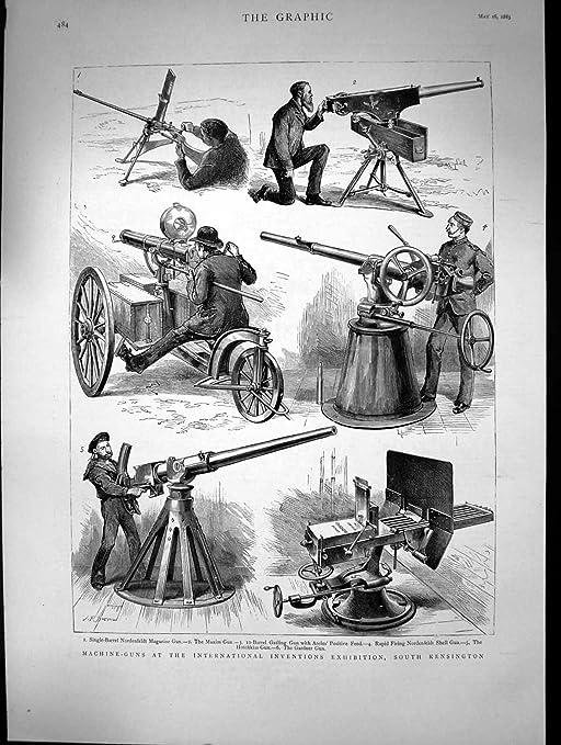 Arma de Kensington Nordenfeldt Shell de la Exposición de 1883 ...