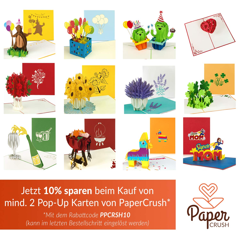 PaperCrush/® Carte danniversaire 3D Licorne pour enfant