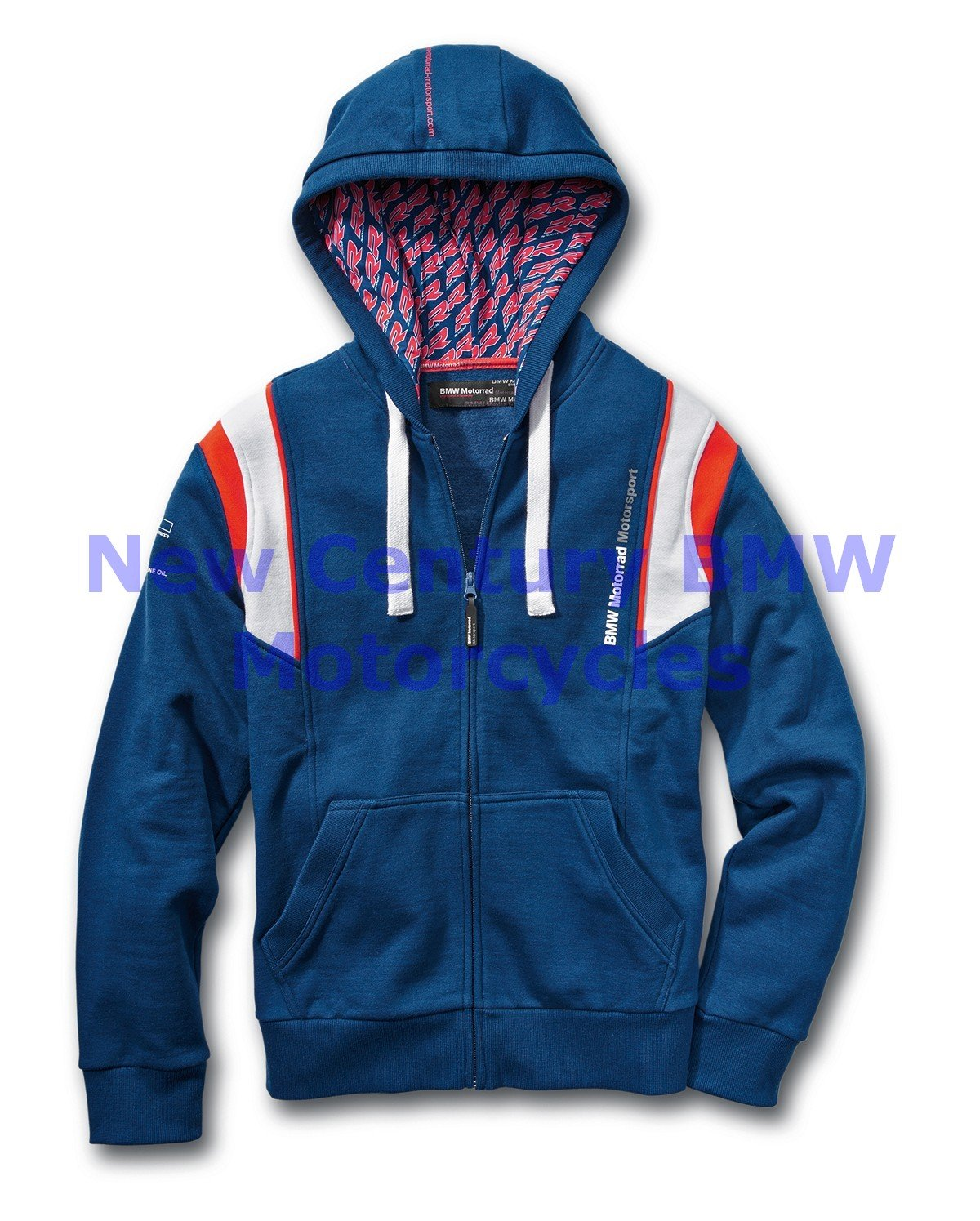 BMW Genuine Motorcycle Unisex Motorsport Hooded Jacket Blue/White/Red XL
