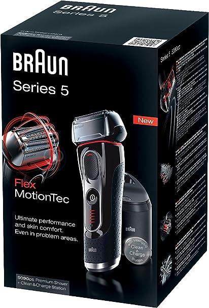 Afeitadora Braun Series 5 5090CC con estación de carga y limpieza ...