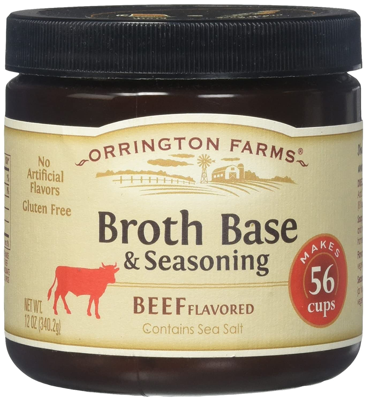 Orrington Farms Broth Base & Seasoning, Beef Flavored, 12 oz (Makes 56 Cups)