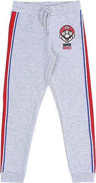 Pantalones de chándal de Color Gris Super Mario: Amazon.es ...