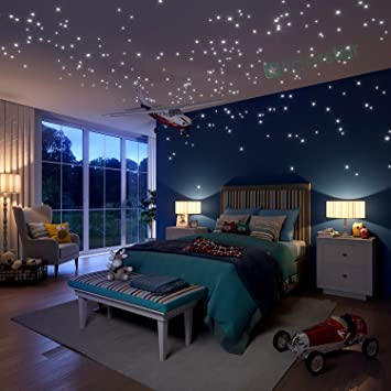 Glow In The Dark Stars Wall Stickers, 504 Dots And Moon For Starry Sky, Part 51