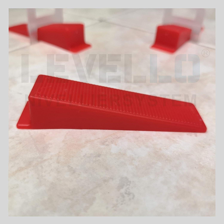 cu/ñas de azulejos para sistema de cu/ña de deslizamiento Sistema de nivelaci/ón de cu/ñas para azulejos 100 unidades de cu/ña de nivelaci/ón est/ándar ayuda para nivelar azulejos
