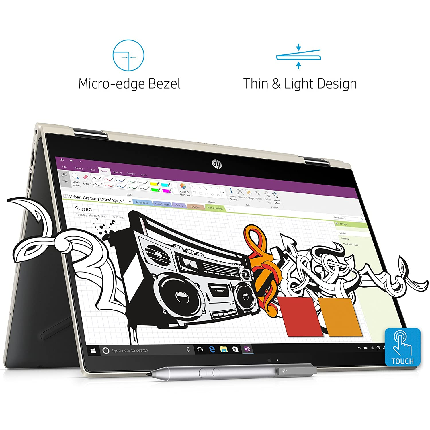 Buy HP Pavilion x360 Convertible 14 cd0078TU 14 inch FHD Slim Laptop with Pen 8th Gen Intel Core i3 8130U 256 GB SSD 4GB RAM Windows 10 Home Microsoft