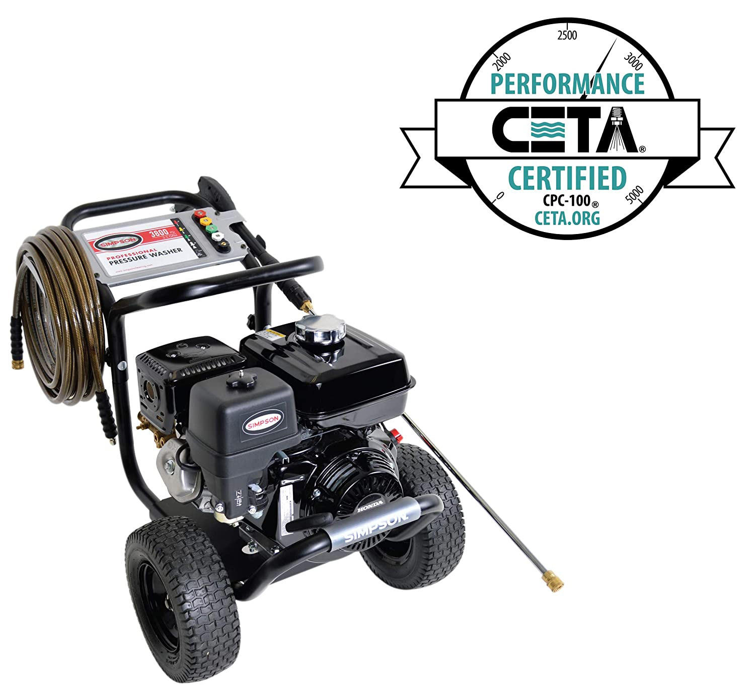 Amazon.com : Simpson Cleaning PS3835 3800 PSI at 3.5 GPM Gas Pressure Washer  Powered by HONDA with AAA Triplex Pump : Garden & Outdoor