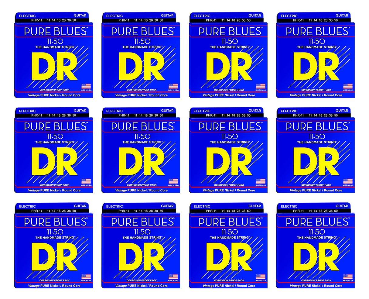 Dr cuerdas phr-11 Pure Blues Pure níquel cuerdas para guitarra eléctrica 12 unidades: Amazon.es: Instrumentos musicales