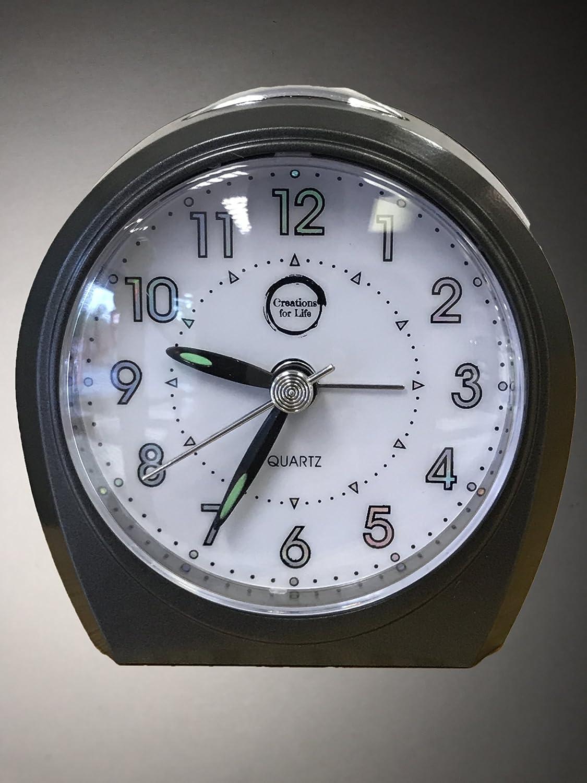 Sveglia con movimento silenzioso (senza ticchettio), di colore nero, orologio moderno con luce notturna e snooze, orologio silenzioso da comodino, orologio da viaggio per ufficio, casa, impostazione semplice, qualità al quarzo Nicheli