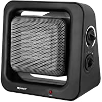 Tenergy 900W/1500W PTC Ceramic Heater with Auto Shut Off, Portable Space Heaters with Adjustable Thermostat for Home Bedroom, Personal Desk Heaters for Office