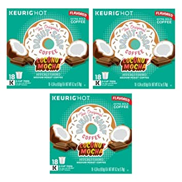 The Original Donut Shop Coconut Mocha Keurig SingleServe KCup Pods