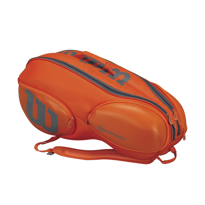 Wilson WRZ849709 Burn Tennis Bag Orange//Grey