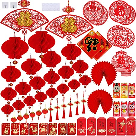 12pcs//set Chinese New Year Red Money Envelope Year of the Rat 2020 Red Packet UK
