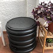 WormBox : Vermicompostador 3 bandejas Gris + Jardinera - 56 litros