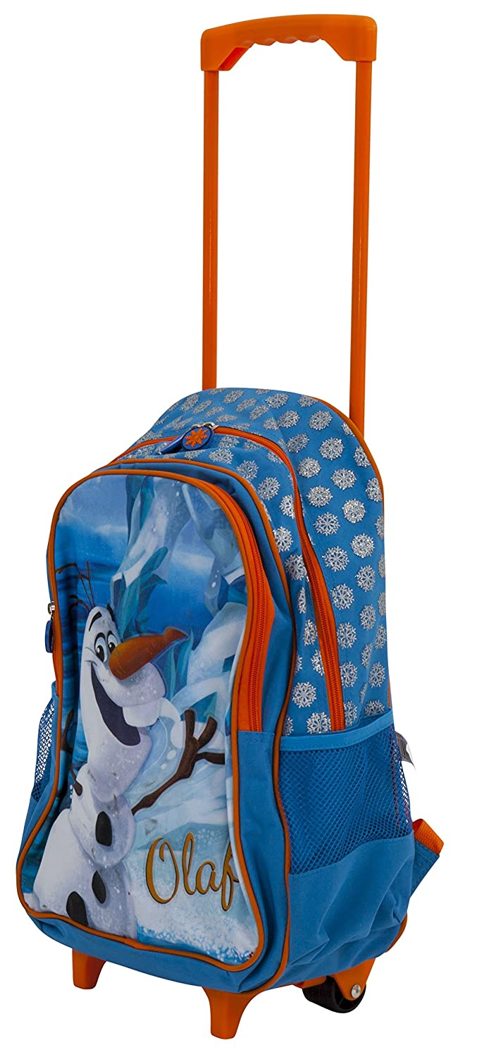 7a4cf533005 Simba Frozen Olaf 15 Trolley Bag Wheeled Travel Backpack Rucksack with Telescopic  Handle   Padded Shoulder ...