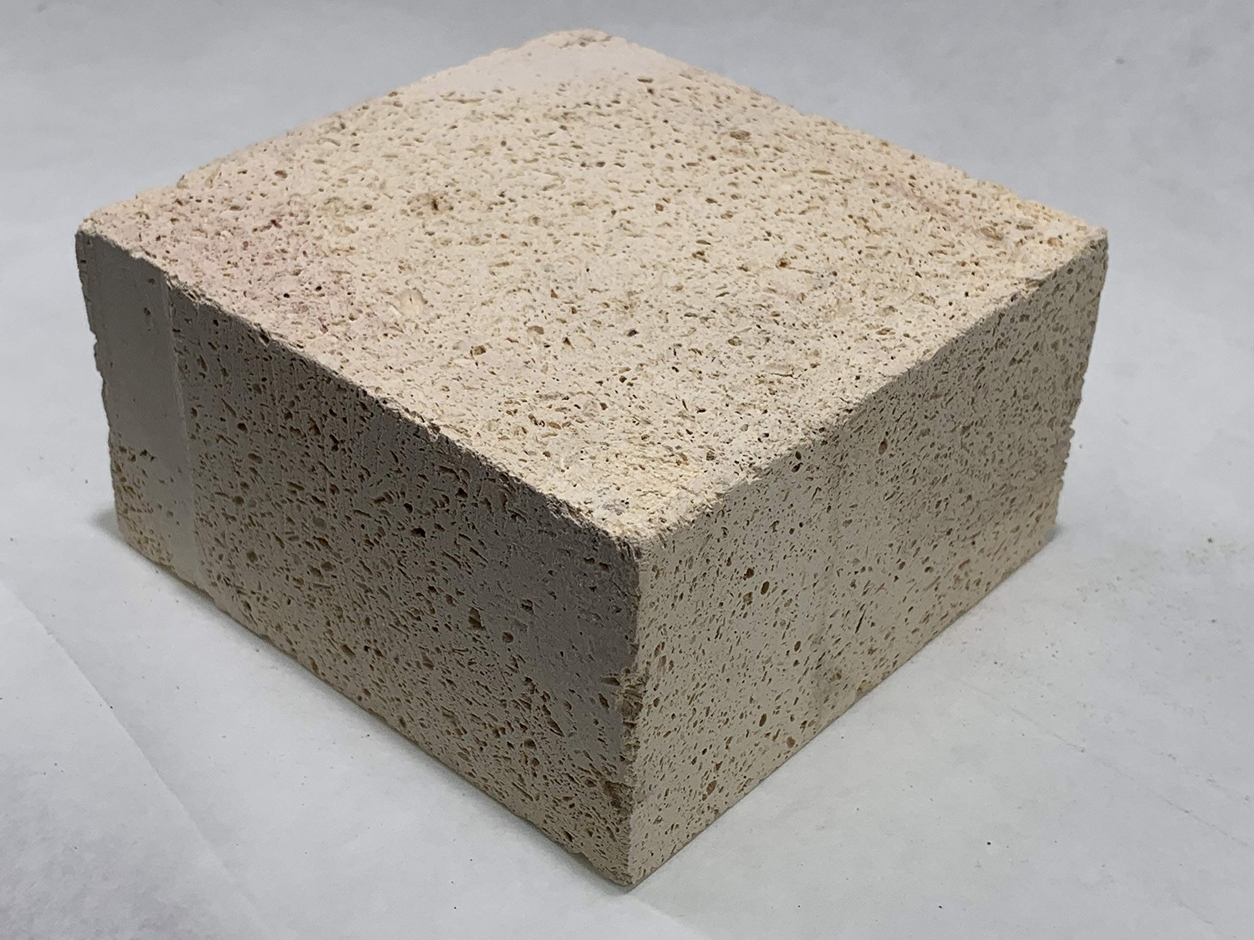 AA Plus Shop Insulated Fire Brick, White/Beige,Soldering, Forging, Fire Stove, Furnace, Small or Large (4.75x4.5x2.5 (Small) 12PK) by AA Plus Shop