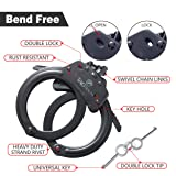 TacStealth Double Lock Real Steel Handcuffs with