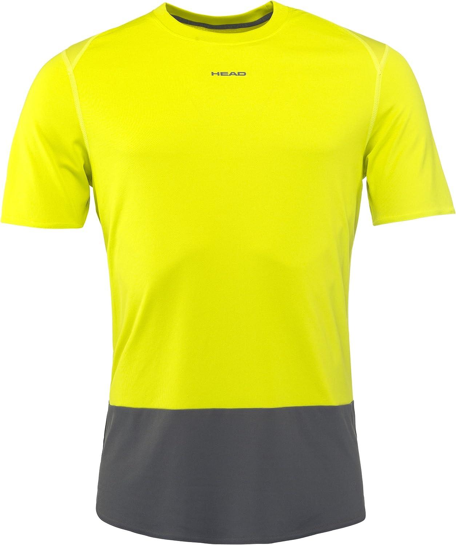 yellow//dark grey Vision Tech mens tennis top - S HEAD