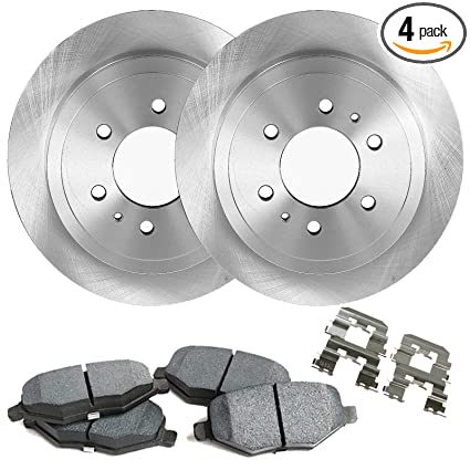 Detroit Axle - Complete FRONT Brake Rotors & Ceramic Brake Pads w/Clips  Hardware Kit - 4WD ONLY for Cadillac Escalade Chevy GMC K1500 K2500 Pickup
