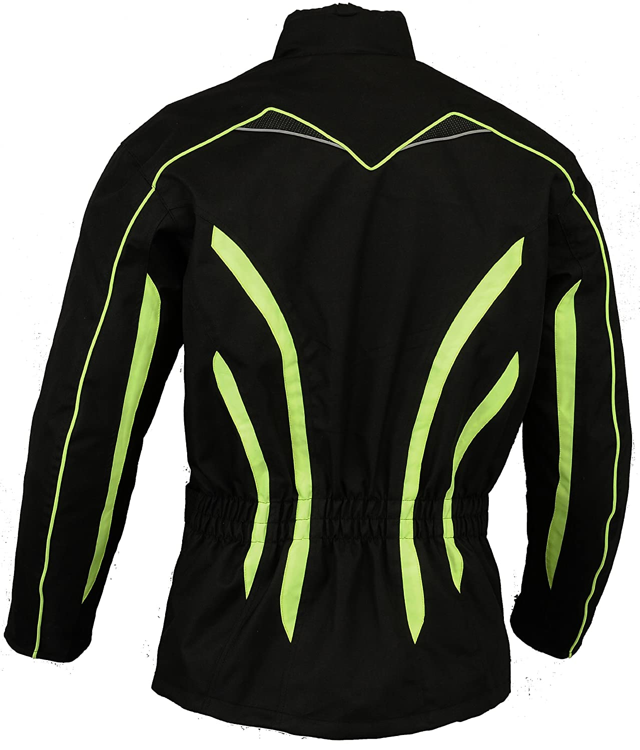 L Mens Hivis Motorbike Protective Jacket Waterproof High Visibility