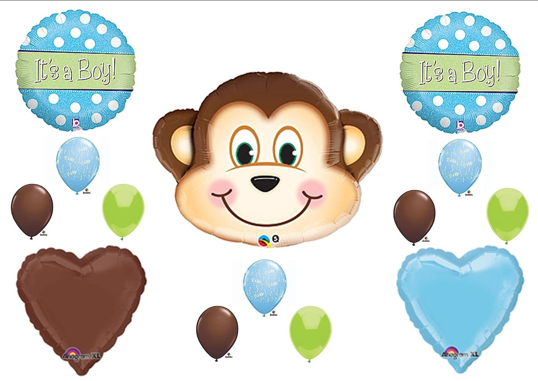 Baby Shower Monkey Decorations Part - 28: Amazon.com: 1 X Itu0027s A Boy Monkey BABY Shower Balloons Decorations Supplies  Jungle Safari: Toys U0026 Games