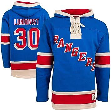 size 40 4cc2f 8068a NHL New York Rangers Henrik Lundqvist Lace Jersey Hood (Old Time Hockey)