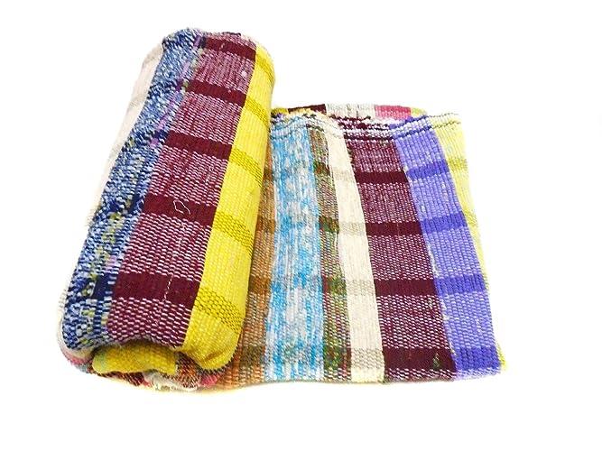 Amazon.com: Carpet Hand Loom Rag Rug Coverlet Counterpane ...
