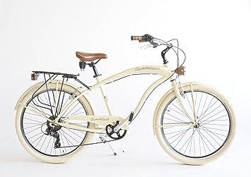 Via Veneto - Bicicleta, Hombre, beige: Amazon.es: Deportes y aire ...