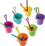 Fun Express Beach Play Sets - 12 Buckets, Shovels, Rakes, and Scoops