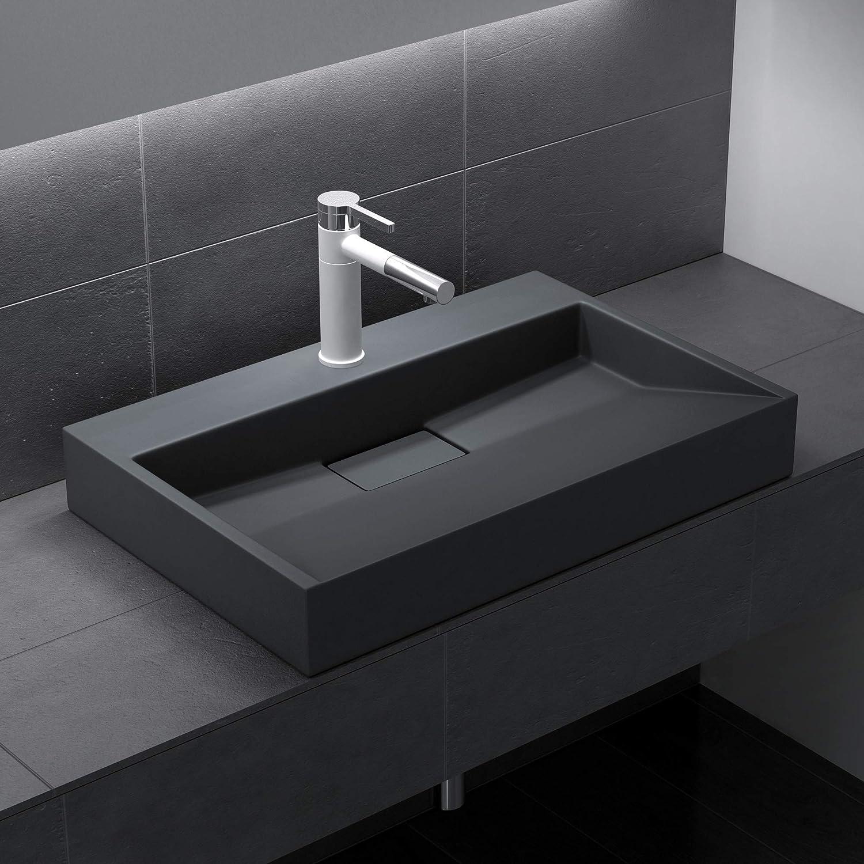 Waschplatz Waschtisch aus Gussmarmor Sogood BTH: 70x46x11 cm Design Waschbecken Colossum19