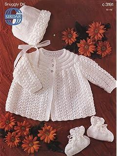 152c882d5 Sirdar Baby Matinee Coats Knitting Pattern 1579 DK  Amazon.co.uk ...