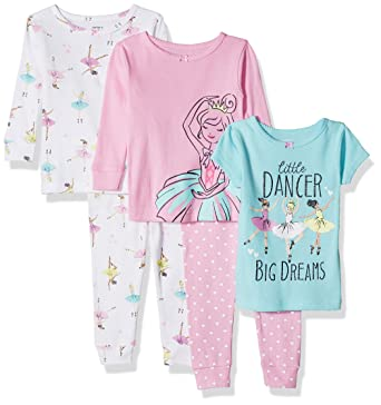 56fc7650b0b1 Amazon.com  Carter s Baby-Girl 5-Piece Cotton Snug-fit Pajamas  Clothing