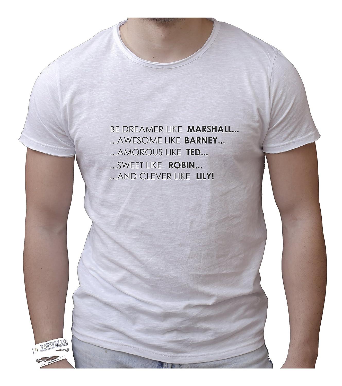 Camiseta Hombre Gargantilla de Corte Vivo 100% Algodón Peinado fiammato – How Los Met Your Mother- Made in Italy: Amazon.es: Ropa y accesorios