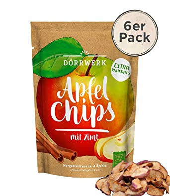 5a84ec09aed Apple crisps with 6 times 40g cinnamon | Fruit crisps for occasionally  eating | Crunchy dried