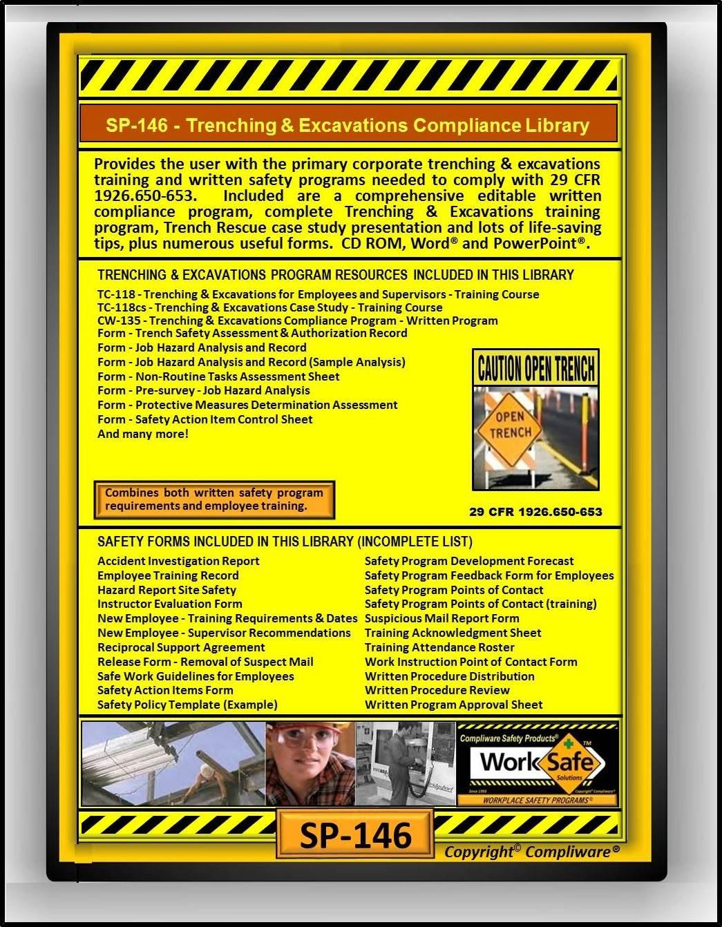 Amazon com: SP-146 - TRENCHING & EXCAVATION SAFETY