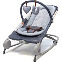 Summer Infant 2-in-1 Baby Bouncer & Baby Rocker Duo (Heather Gray) with Soothing Vibrations, Removable Toys & Compact…
