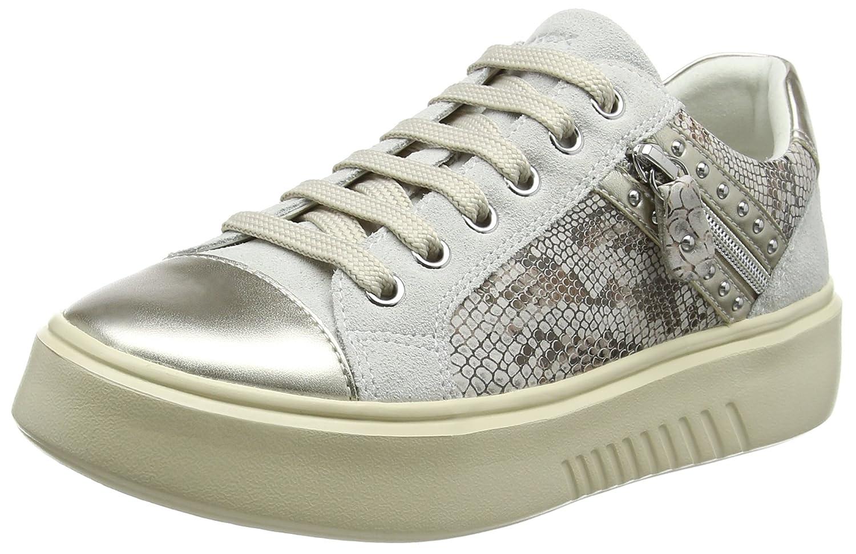 Geox D Nhenbus F, Zapatillas para Mujer 41 EU Blanco (Off White)