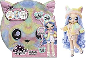 Na Na Na Surprise Ultimate Surprise Rainbow Kitty with New Taller Doll and 100+ Mix & Match Looks, 11 Inches
