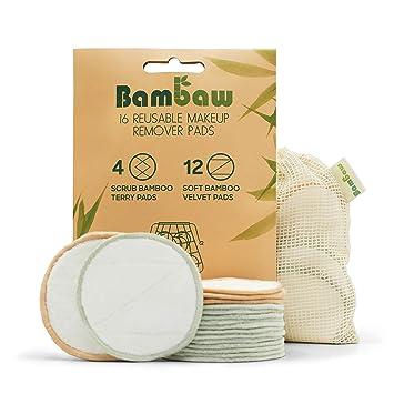 Waschbare Abschminkpads TURATA 16 St/ücks Reinigungspads Wiederverwendbare Wattepads Make Up Entferner Pads aus Bambus /& Baumwolle mit W/äschebeutel Umweltfreundlich Abschminkt/ücher