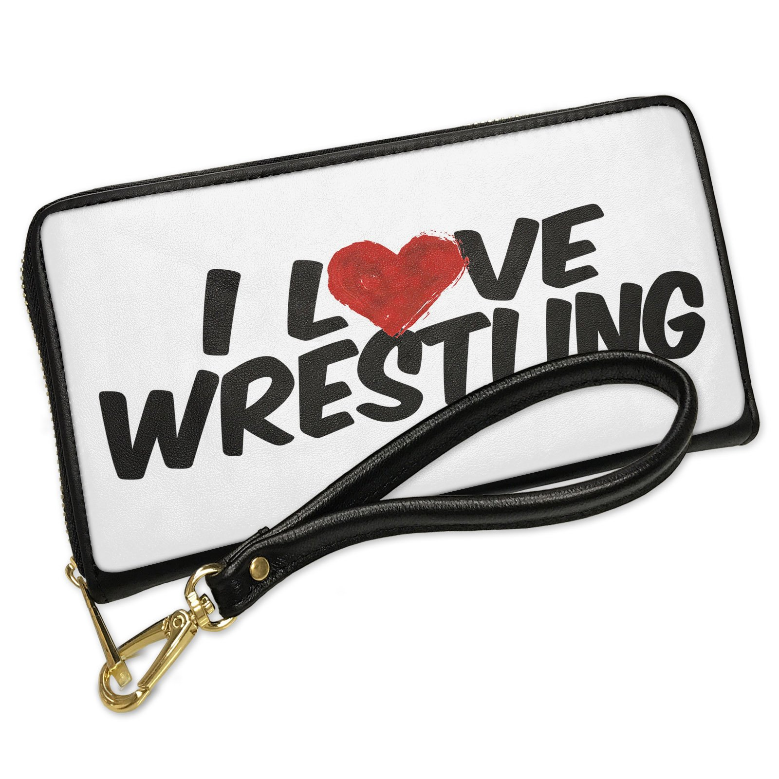Wallet Clutch Wrestling with Removable Wristlet Strap Neonblond