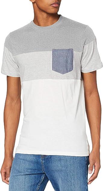 Jack & Jones Jjcontrast Pocket tee SS Crew Neck Camiseta para Hombre