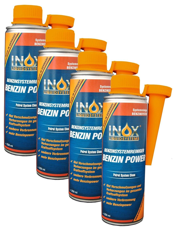 INOX Benzin Power Additiv, 4 x 250ml - Zusatz fü r alle Normal- und Superbenziner