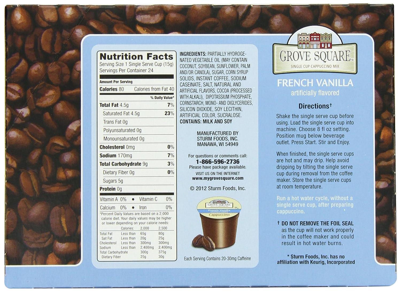 Grove Square Cappuccino, French Vanilla, 24 Count Single Serve Cups: Amazon.ca: Grocery