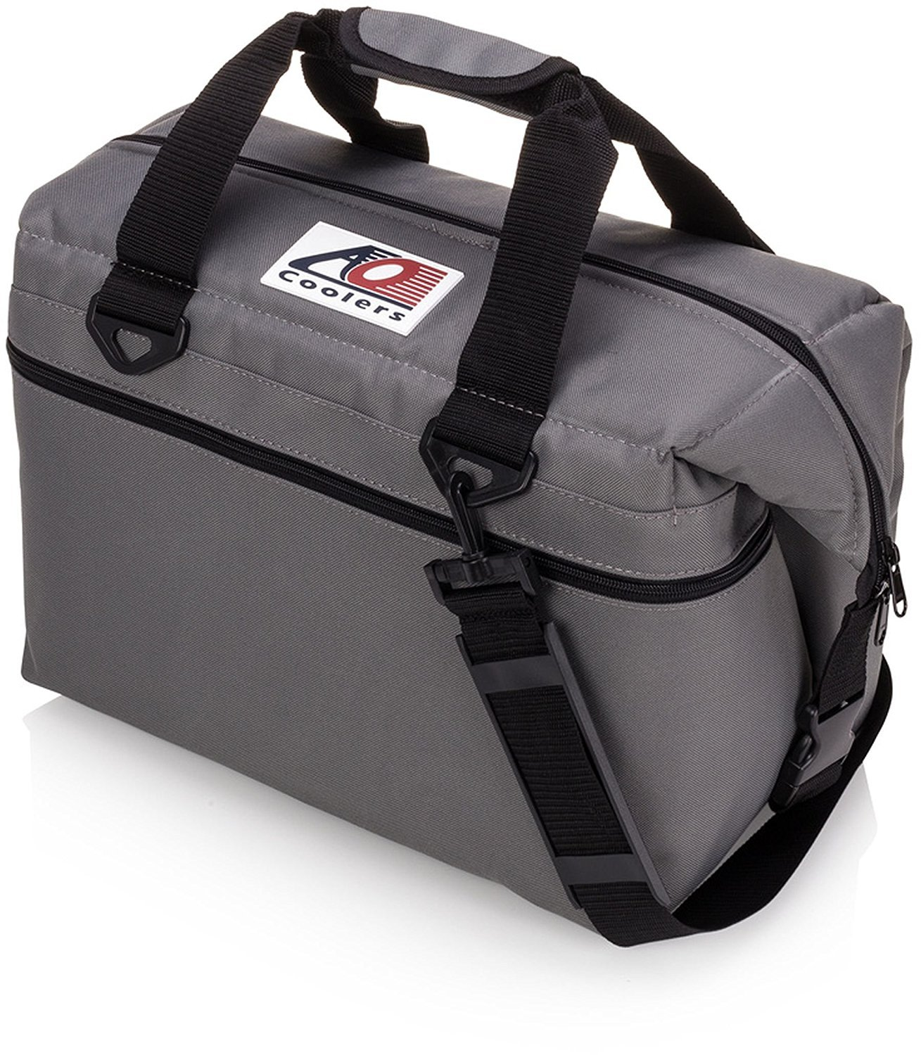 AO Coolers Canvas Soft Cooler with High-Density Insulation, Charcoal, 36-Can