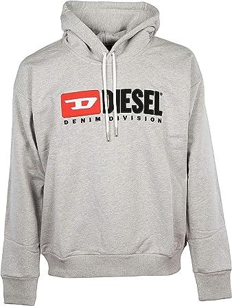 Diesel Hombre 00SH340CATK912 Gris Algodón Sudadera Gris L: Amazon ...