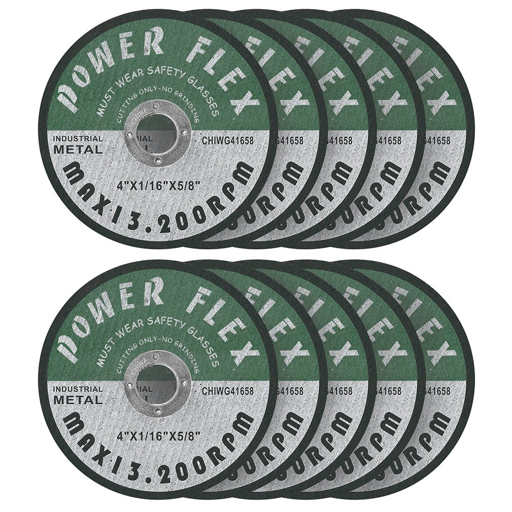 CUT-OFF WHEELS 4'' x 1/16'' x 5/8'' - 10 PACK For Cutting all Ferrous Metals and Stainless Steel.