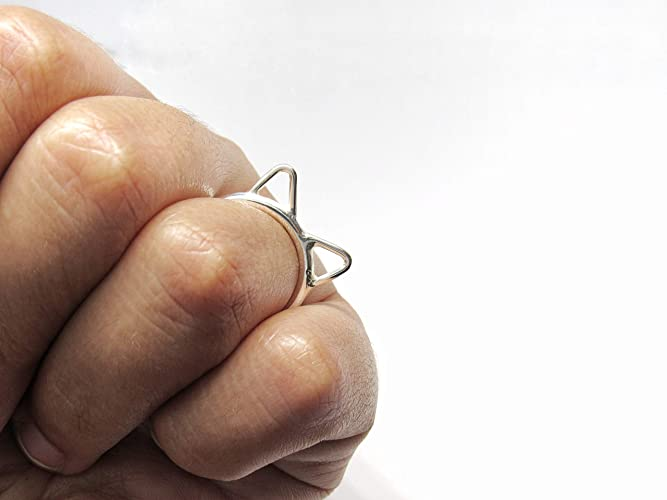 Ring In Kaars.Amazon Com Cat Ears Ring Handmade