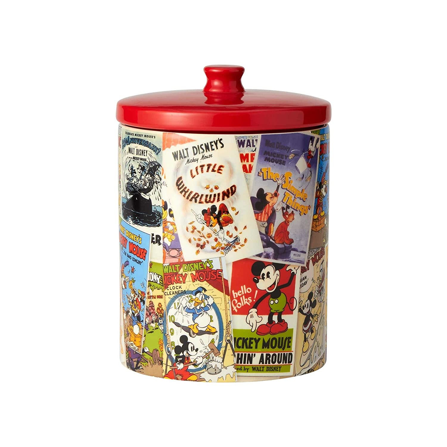 "Enesco Disney Ceramics Mickey Mouse Collage Cookie Jar 9.25"" Multicolor"