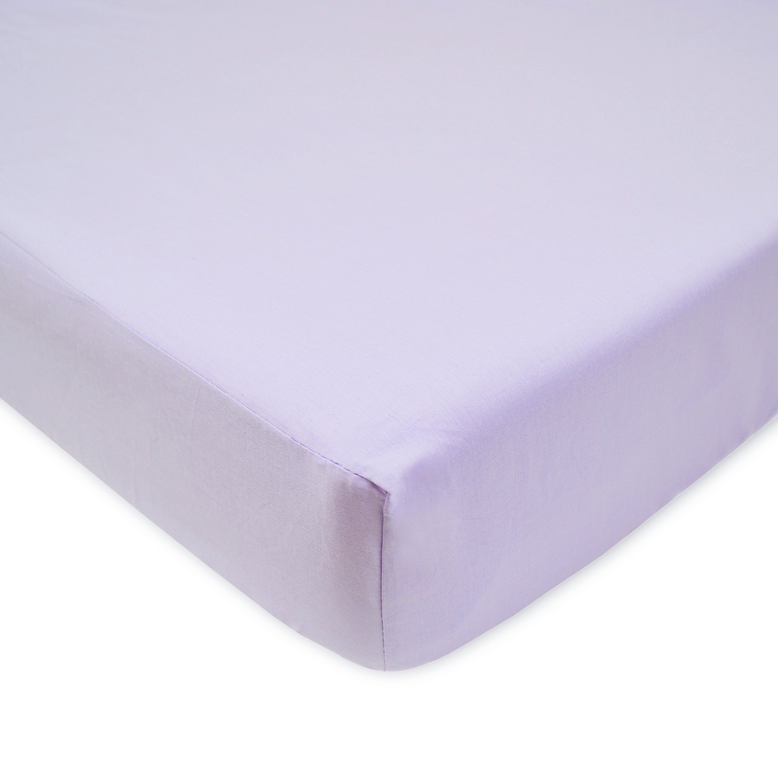 American Baby Company 100% Cotton Percale Fitted Crib Sheet for Standard Crib and Toddler Mattresses, Lavender