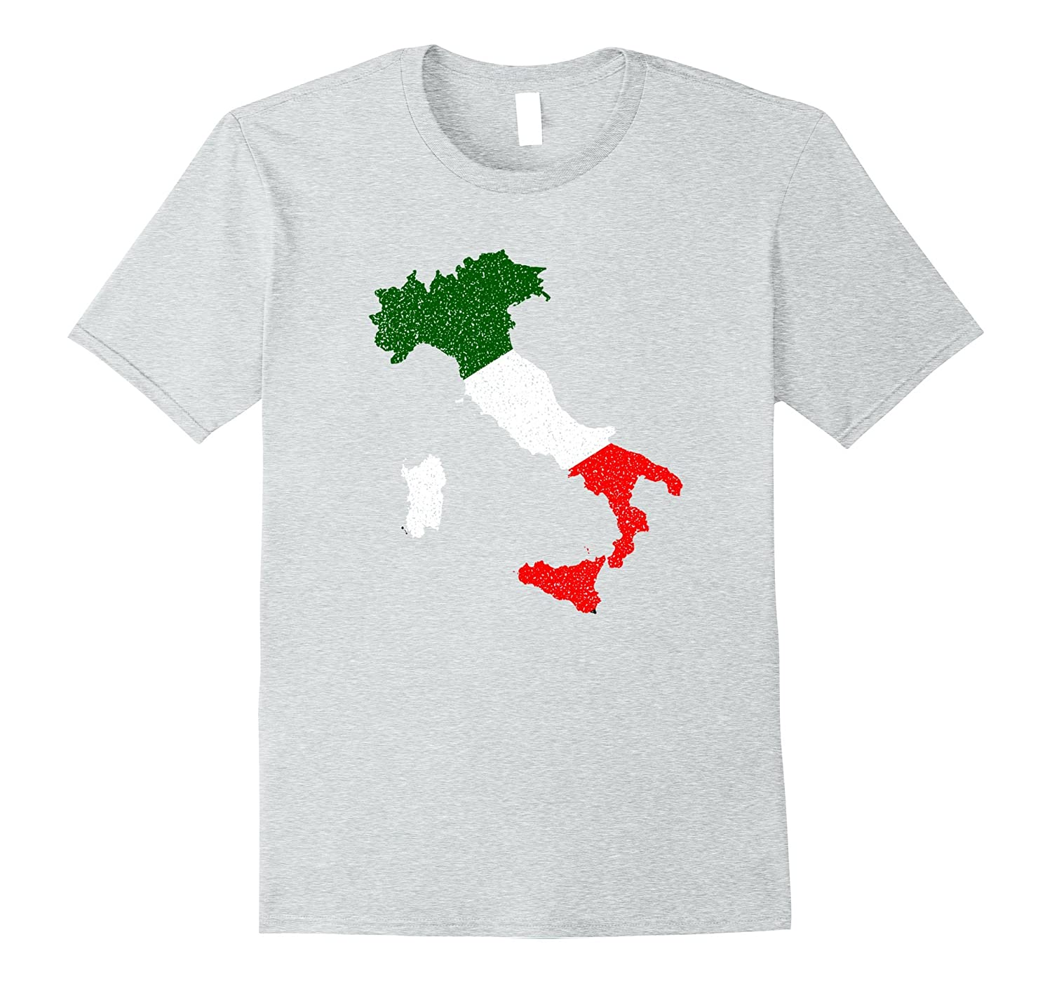 The Official Map of Italy Italian Flag T-Shirt-Vaci