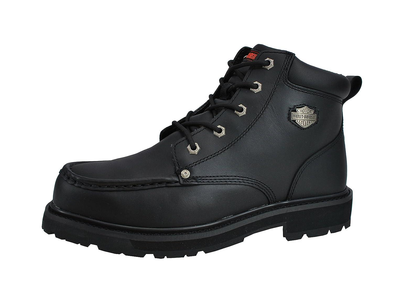 Harley-Davidson Men's Sierra Steel Toe Lace Short Black Boots